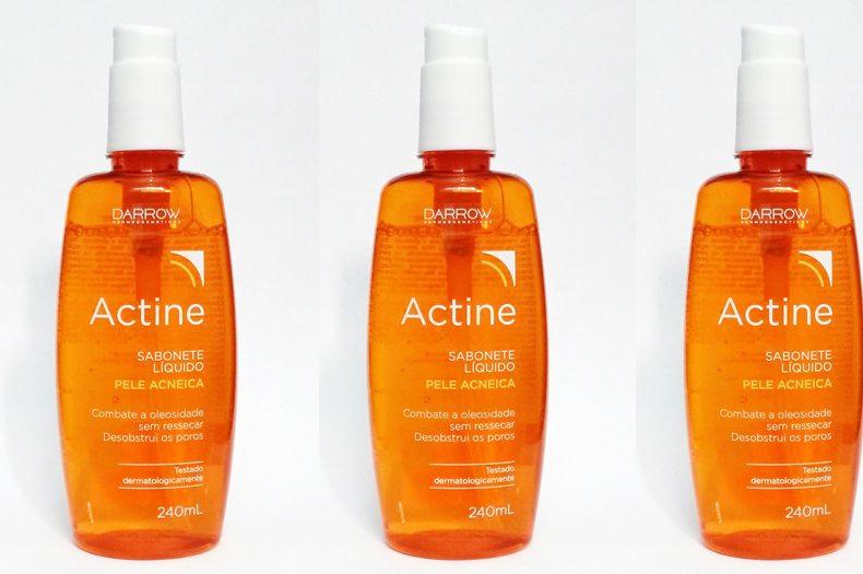 Sabonete líquido facial pele com acne Actine