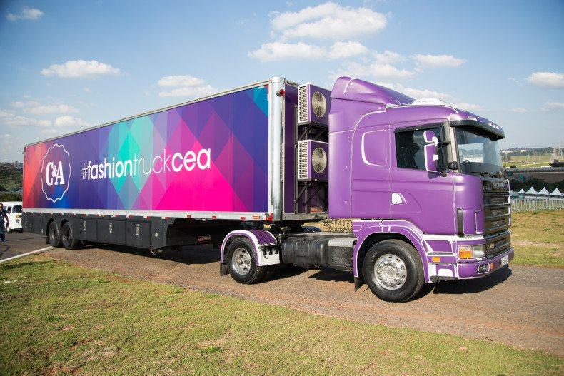 Fashion Truck C&A Belo Horizonte caminhão