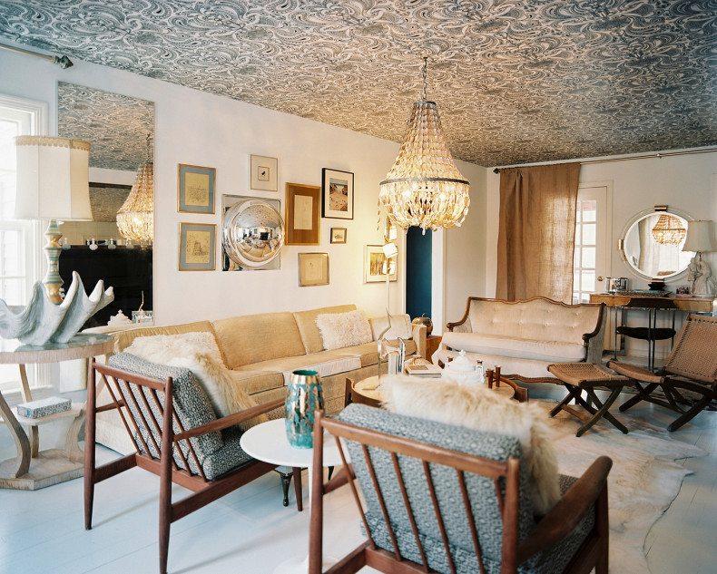 Decor papel de parede no teto for Wallpaper home value