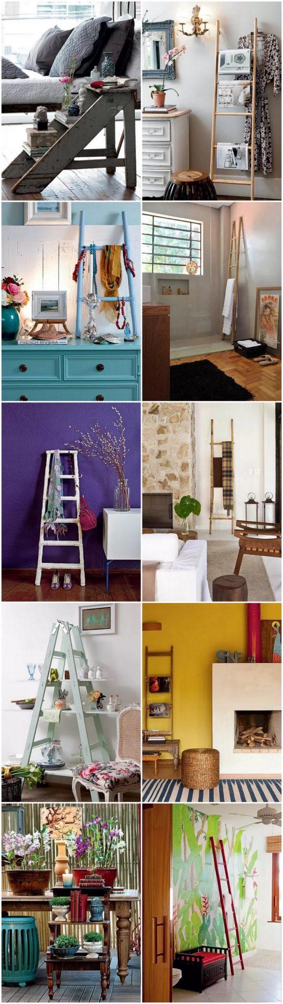 Decor  Usando escadas na decoração